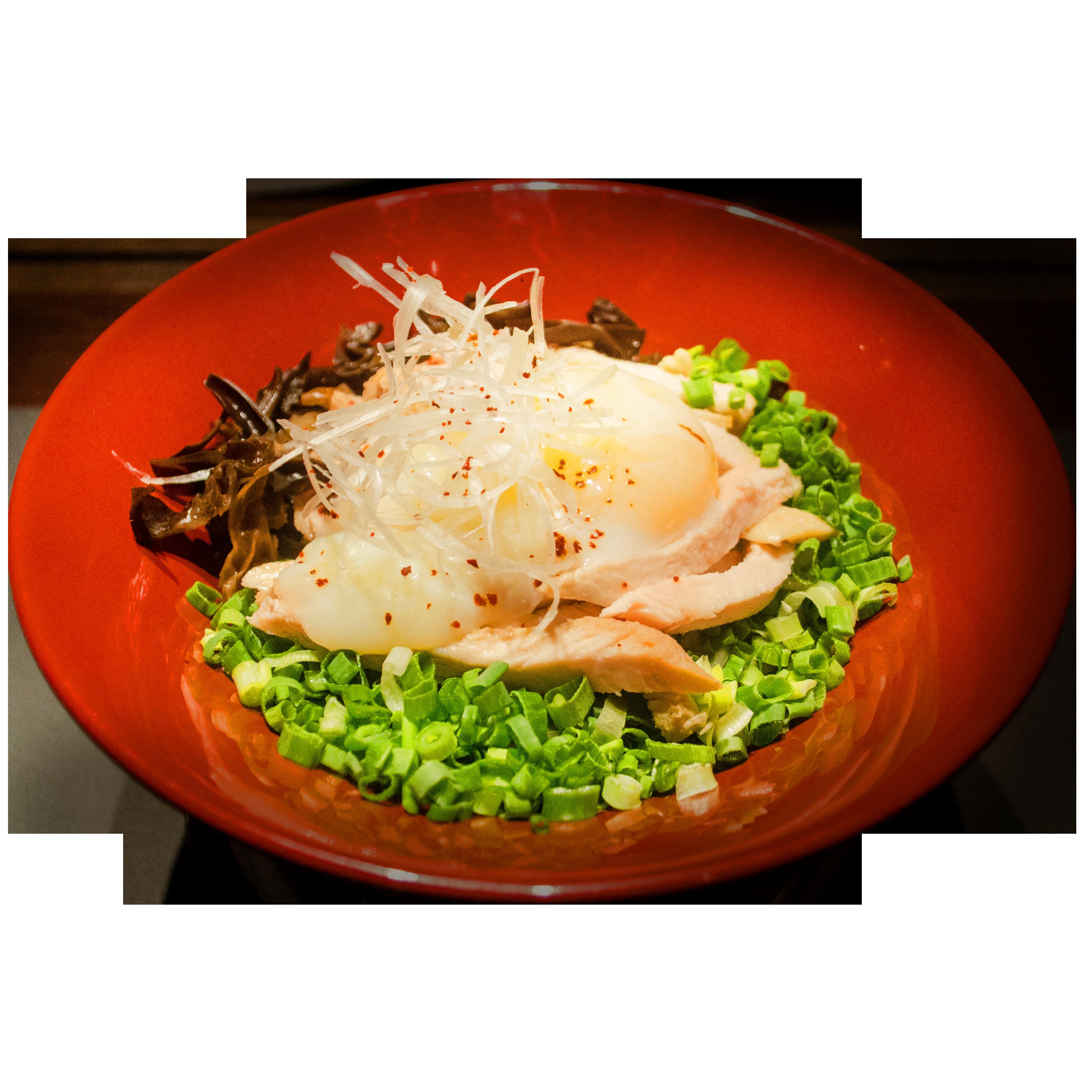 Chicken And Onsen Tamago Maze-Soba