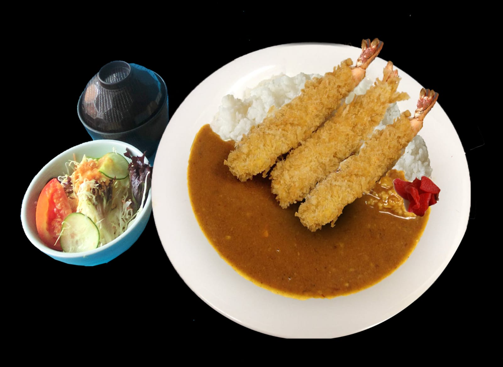 Ebi Fry Curry Rice