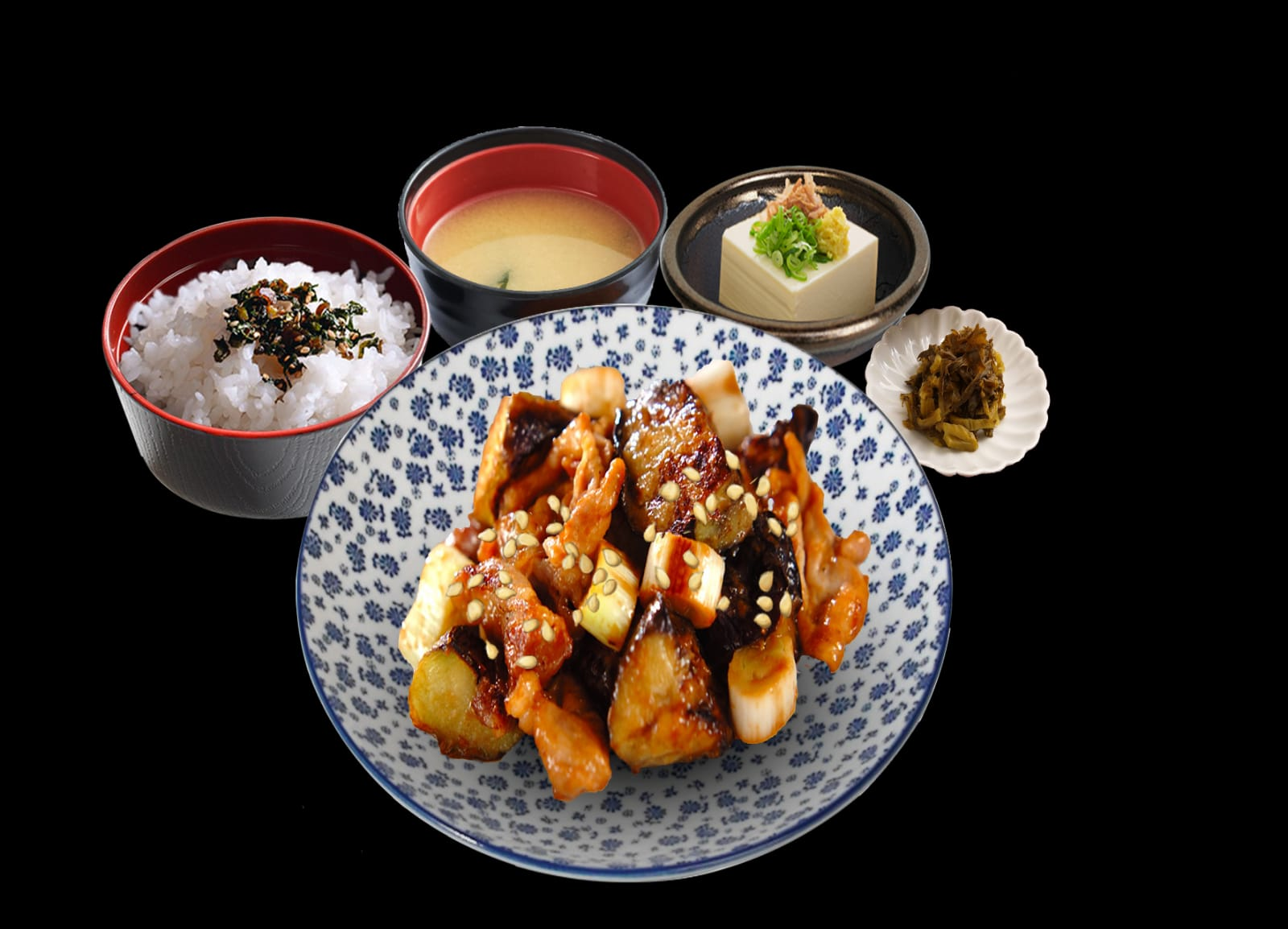 Pork Nasu Miso Set