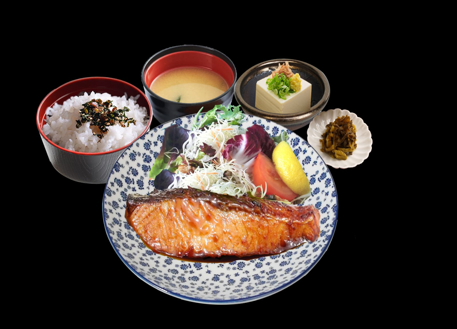 Salmon Teriyaki Set
